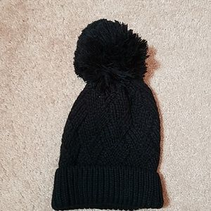 Express black knit women's winter hat